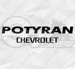 Sticker Chevrolet Potyran