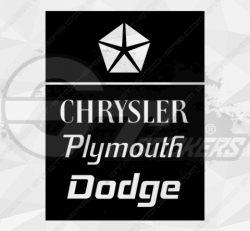 Stickers chrysler plymouth dodge