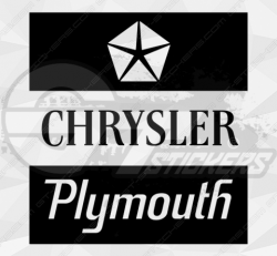 Stickers chrysler plymouth