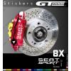 8 Stickers Seat Sport pour étrier de freins