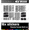 16 Stickers Seat Sport + Logo Seat