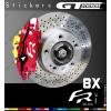 8 Stickers Seat Sport FR pour étriers de freins