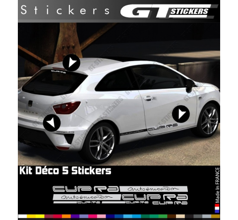 Kit Stickers Bandes Latérales Cupra Autoemocion 580 mm