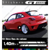 Kit Stickers Bandes Latérales SEAT CUPRA 1400 mm