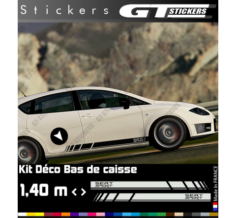 Kit Stickers Bandes Latérales SEAT SPORT 1400 mm