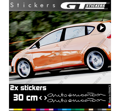 2 Stickers Powered By VW