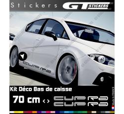 2 Stickers Seat Cupra 700 mm