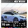 Kit Stickers Damiers Seat Ibiza 700 mm