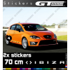 2 Stickers SEAT Ibiza Xl 700 mm