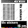 12 Stickers SEAT CUPRA 150 mm