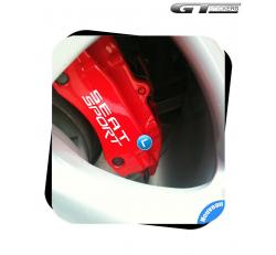 8 Stickers Seat Sport pour étriers de freins