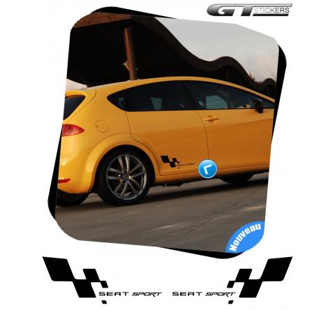 2 Stickers Damier Seat Sport 380 mm