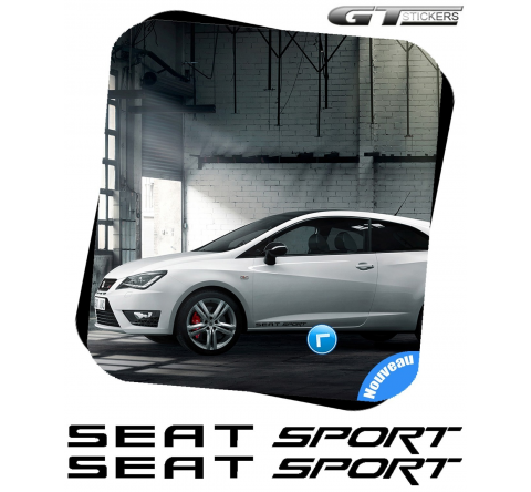 2 Stickers Seat Sport 300 mm