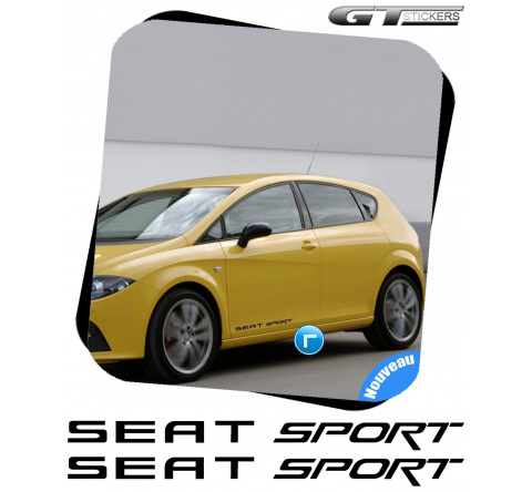 2 Stickers Seat Sport XL 600 mm