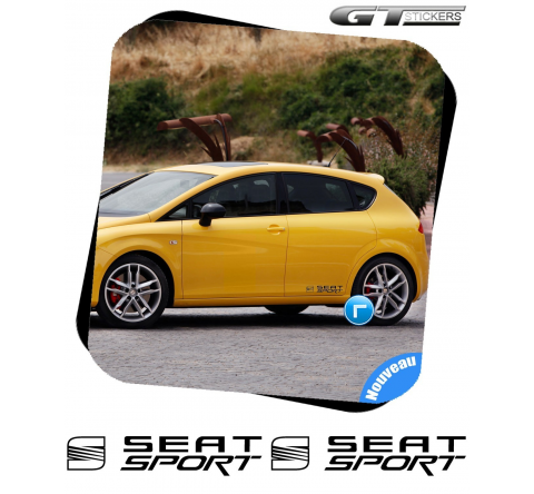 2 Stickers Seat Sport + Logo 300 mm