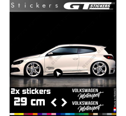 2 Stickers VW Volkswagen Motorsport 290 mm