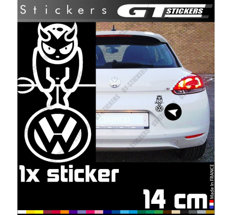 Sticker Volkswagen Devil 140 mm