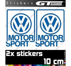 2 Stickers VW Volkswagen Motorsport 100 mm