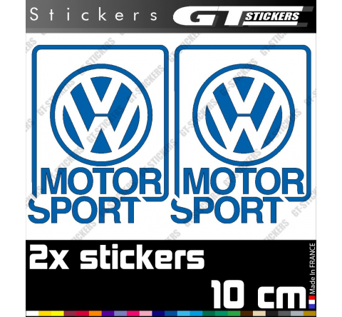 2 Stickers VW Volkswagen Motorsport 100 mm