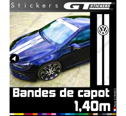 Kit Sticker Bande de capot Logo Vw Volkswagen 1400 mm
