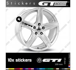 10 Stickers VW Volkswagen GTI pour jantes