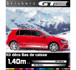 Kit Stickers Bandes Latérales VW Volkswagen Racing 1400 mm