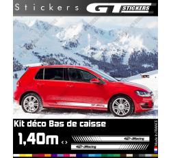 Kit Stickers Bandes Latérales VW Volkswagen Racing 1400 mm