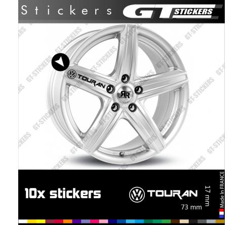 10 Stickers VW Volkswagen Touran pour jantes