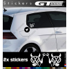 2 Stickers Volkswagen Devil 90 mm