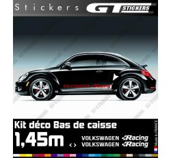 Kit Stickers Bandes Latérales VW Volkswagen Racing 1450 mm
