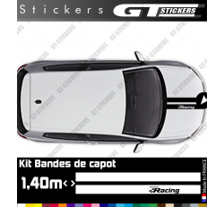Kit Stickers Bandes De Capot Volkswagen Racing