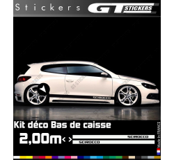 Kit Stickers Bandes Latérales VW Volkswagen Scirocco 2000 mm