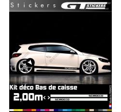 Kit Stickers Bandes Latérales VW Volkswagen Scirocco 2000 mm