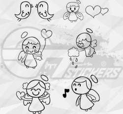 Sticker Kit Anges 2