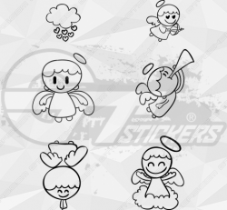 Sticker Kit Anges