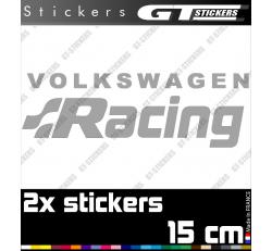 2 Stickers VW Volkswagen Racing 150 mm