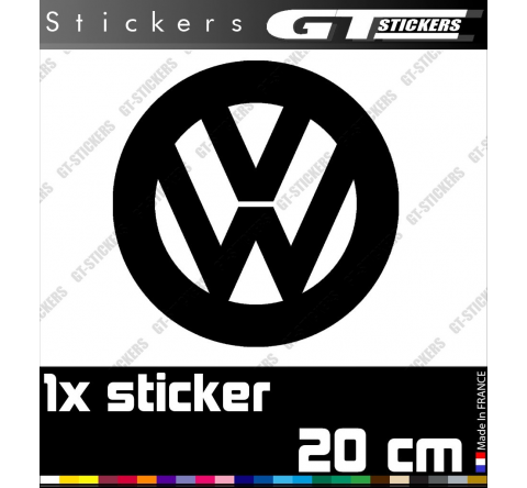 Sticker Volkswagen Camper Combi Van 200 mm