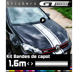 Kit Sticker Bande De Capot Volkswagen VW