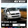 Sticker VW Volkswagen Bande De Capot 900 mm