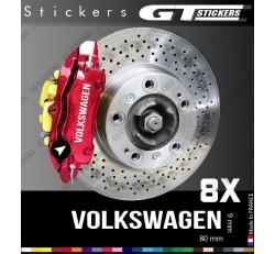 8 Stickers VW Volkswagen pour étiers de freins