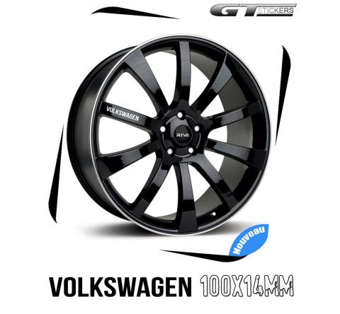 6 Stickers VW Volkswagen pour jantes