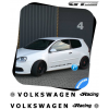 2 Stickers VW Volkswagen Racing XXL