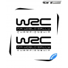 2 Stickers Volkswagen VW WRC Rallye 200 mm