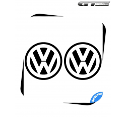2 Stickers Logo VW Volkswagen 100 mm