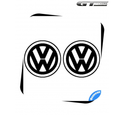 2 Stickers Logo VW Volkswagen 100 mm alternative