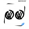 2 Stickers VW Racing Design 100 mm
