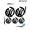 5 Stickers Logo VW Volkswagen Racing Design 100 mm et 60 mm