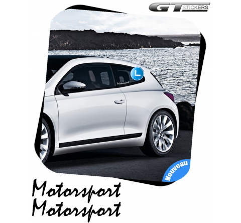2 Stickers VW Volkswagen Motorsport 200 mm