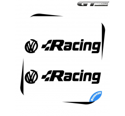 2 Stickers VW Volkswagen Racing Design 200 mm