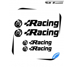 4 Stickers VW Volkswagen Racing Design 100 mm et 200 mm